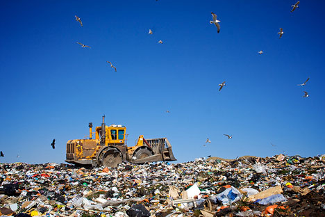 Landfill-garbage-machinery